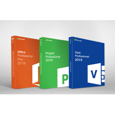 Microsoft Office 2019 Pro Plus + Visio 2019 + Project 2019 Pro - 1 User / 1 Device