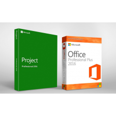 Microsoft Office 2016 Pro Plus + Project 2016 Pro - 1 User / 1 Device